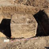 """2020 г. - Археологически наблюдения на изкопни работи по трасето на съществуваща въздушна линия (ВЛ) """"Тунджа"""" в участъка от стълб No. 14 до стълб No. 88"""
